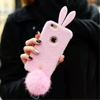 iPhone 5s 6 6S Pink Bunny Phone Case