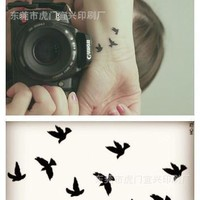 summer style waterproof temporary tattoos for lady women Colorful animal aerial bird design tattoo sticker Free Shipping HC1073