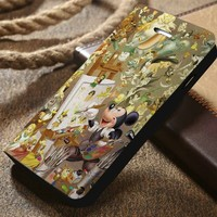 Disney Mickey Mouse and All Characters Custom Wallet iPhone 4/4s 5 5s 5c 6 6plus 7 and Samsung Galaxy s3 s4 s5 s6 s7 case