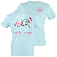 Simply Southern Preppy States Pattern All Tied Together T-Shirt