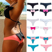 Cheeky Bikini Bottoms with Bow 5 Color Combinations