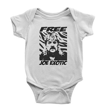 Free Joe Exotic King Of The Tigers Infant One-Piece Romper Bodysuit