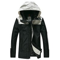 Boys & Men Moncler Casual Zip Edgy Cardigan Jacket Coat Hooded