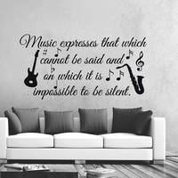 Music Wall Decals Vinyl Notes Decal Quotes Stickers Nursery Bedroom Art LM90