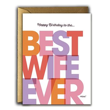 Best Wife Ever Card