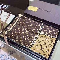 LV Louis Vuitton Popular Women Smooth Silk Kerchief Cape Scarf Scarves I/A