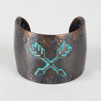 Crossed Arrows Cuff Bracelet
