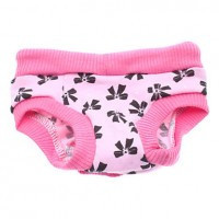 Adjustable Bowknot Pattern Sanitary Pant for Dogs (S-XL)(XL ( USD $ 5.8)) - Default