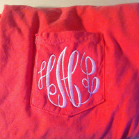 Monogrammed Comfort Color Pocket Tees by TheInitialedLife on Etsy