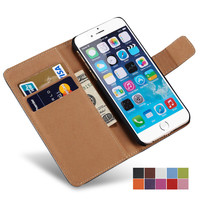 Case For iPhone 6 6S / 6S Plus Wallet Flip Style Luxury PU Leather Cover With Card Holders 4.7 5.5 inch Coque i Phone Bag Black