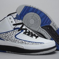 Air Jordan 2 Retro Aj2 White/blue Basketball Sneaker Size Us 8 13 | Best Deal Online