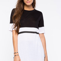 Colorblock Tunic Tee