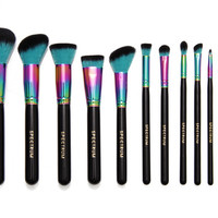 12 piece Siren Brush Set & Roll | Spectrum Collections