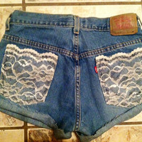 High Waisted Denim Levi's Shorts by AngeliqueMerici on Etsy