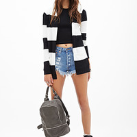 FOREVER 21 Rugby Striped Cardigan