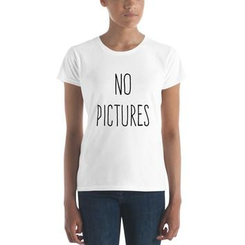 No Pictures Women's short sleeve t-shirt