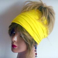 Yellow Hair Bands, Hair band, Yoga Band, Hair Band boho, hippie head, Gypsy Hair Band, Tribal Chairman Accessories