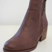 Bowie Booties - Brown