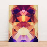 Abstract Geometric Polygon Digital Art Print Instant Download, Motivational Art Print, Colorful Poster, Geometric Art Fall Trends Autumn