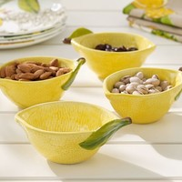 LEMON SHAPED SNACK BOWL, SET OF 4
