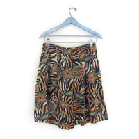 Vintage 80s silk baggy shorts // women's size 12