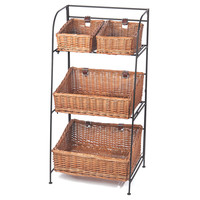 3-Tier Willow Basket Organizer, Brown, Storage Baskets
