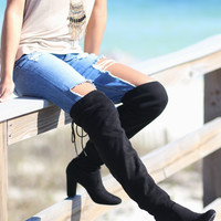 CHINESE LAUNDRY Bachelorette Black Thigh High Boots