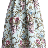 My Fair Lady Baroque Embroidery Midi Skirt Multi