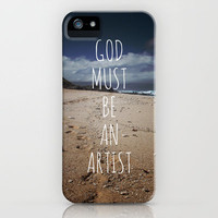 God Must Be An Artist iPhone Case by Deepti Munshaw   Society6