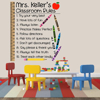Classroom Rules Wall Decal | Elementary School Teacher Removable Wall Decal