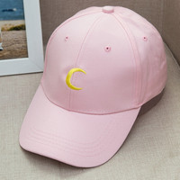 Harajuku Style Cartoon Snapback Caps Sailor Moon Women Football Baseball Cap Mountaineer Canvas Caps YJWC141