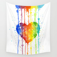 Love Wins Wall Tapestry by Olechka