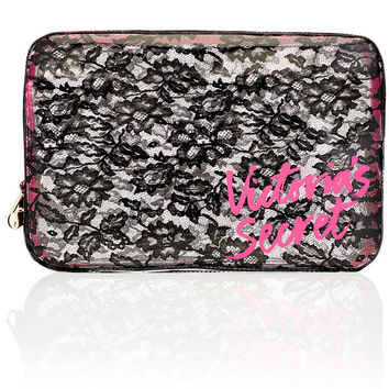 NEW! Large Lace Cosmetic Case