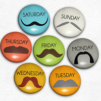 Mustache Magnets Stache A Day New Original Magnet set by hownice