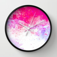 Summer Song #society6 Wall Clock by 83oranges.com