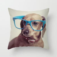 Dogs think they're sooo smart... Throw Pillow by Luke Lindgren