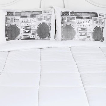 Urban Outfitters - Boombox Pillowcase - Set Of 2