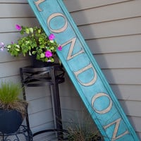 London Wooden Sign Hand Painted Old Vintage Wood Sign Wall Art