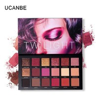 UCANBE Brand 18 Colors Eyeshadow Pressed Palette Charm Women Shimmer Matte Chrome Pigmented Sexy Smoky Makeup Eyeshadow Cosmetic