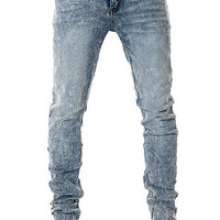 Cheap Monday Jeans Tight Fit in Skin Used Wash Blue