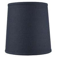"""12""""W x 12""""H Drum Lamp Shade Textured Slate Navy Blue"""