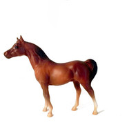 Vintage Breyer Horse Stablemate Arabian Stallion chestnut brown model # 5010 1975 standing retired discontinued collectible miniature small