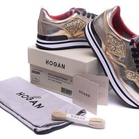 Hogan Women's New Leather Casual Sneakers Shoes