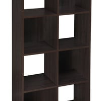 Cubeicals 8 Cube Cubical Storage Display Organizer, Espresso