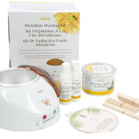 Complete hair removal system Brazilian Waxing Kit, 14 Ounce with Wax Warmer