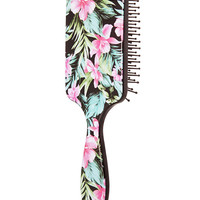 Tropical Floral Paddle Brush
