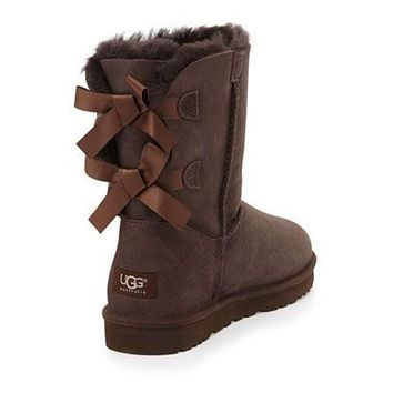 UGG:: bow leather boots boots in tube shoes-2