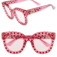 Gucci 49mm Crystal Heart Sunglasses | Nordstrom