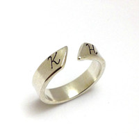 Personalized Sterling Silver Initial Ring