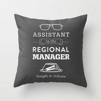 The Office Dunder Mifflin - Assistant to the Regional Manager Throw Pillow by Noonday Design